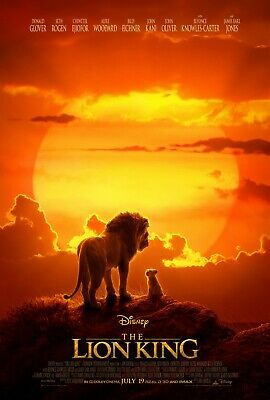 The Lion King - original DS movie poster 27x40 D/S FINAL - 2019