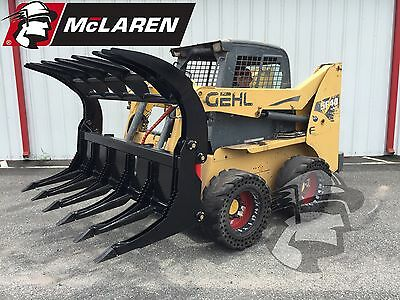 """86"""" HD Root Rake Attachment Bucket for Bobcat Skid Steer Free Shipping"""