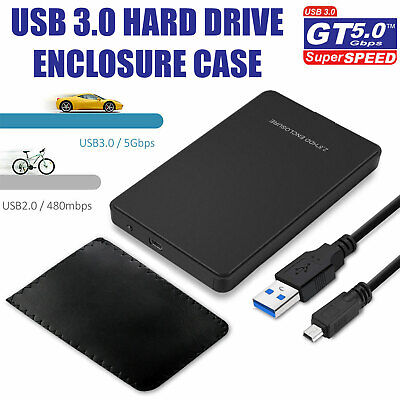 "USB 3.0 5Gbps Transparent 2.5"" SATA SSD HDD Hard Disk Drive Case Enclosure Caddy"