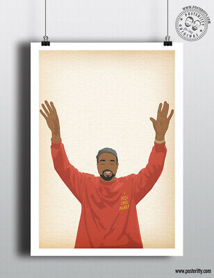 KANYE WEST - Minimalist Life of Pablo Hair Poster Minimal Posteritty Art Print
