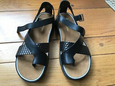 NEW WOMENS CLARKS Lexi Birch Black Leather Strap Comfortable
