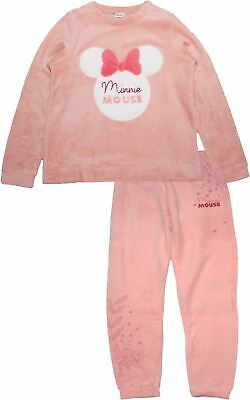 Disney Minnie Mouse Ladies Bows Long Sleeve Soft Fleece Pyjamas