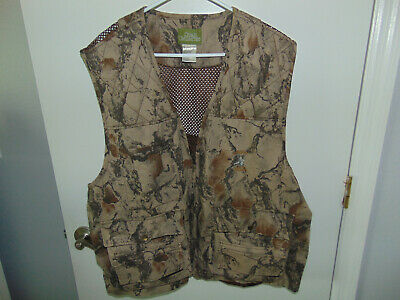 dc532b88bbae1 Quail Unlimited Mens Hunting Vest Rear Game Pouch Advantage Camo Sz XXL