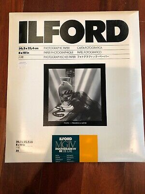 Ilford MGIV Multigrade IV RC Deluxe Satin Photo Paper 8x10 - 25 Sheets