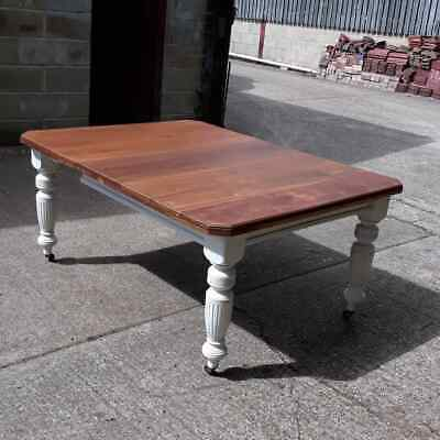 Antique Victorian Dining Table.  Refurbished. Extending with centre leaf