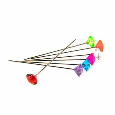 Diamante Mixed Colour Crystal Pins Box Of 100 Floristry Floral Art And Crafts