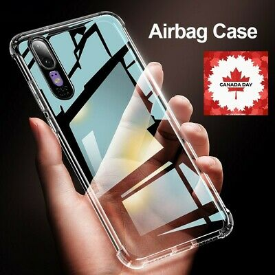 For HUAWEI P10 P20 P30 Lite Pro Airbag Case 360 Luxury Clear Protector Shell