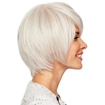 Fashion Lady Real Natural Short Straight Hair Wigs Bob Style Cosplay Wig 11""