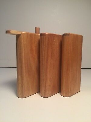 "4"" Dugouts  3 Pack Of Canary Wood With Aluminum One Hitter"