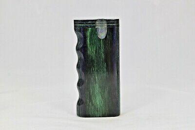 "4"" Dugout One Hitter Emerald Diamond Wood Twist Top With Cigarette"