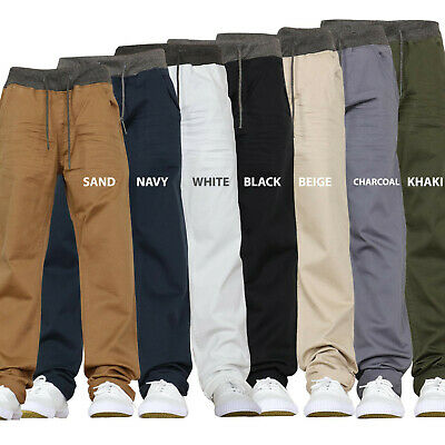 Childrens Boys Kids Stretch Jeans Elasticated Pull on Pants Comfortable Chinos