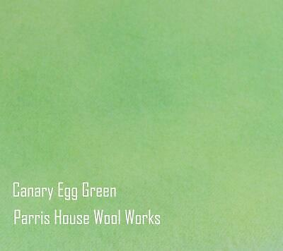 """Wool, Fat Quarter - """"Canary Egg Green"""" - Hand Dyed Wool"""