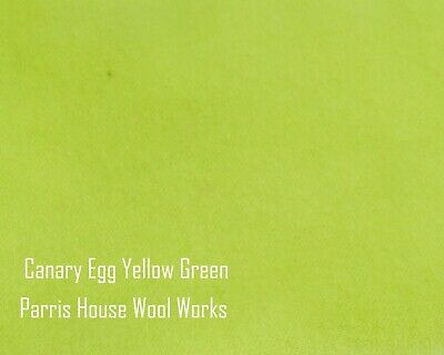 "Wool, Fat Quarter - ""Canary Egg Yellow"" - Hand Dyed Wool"
