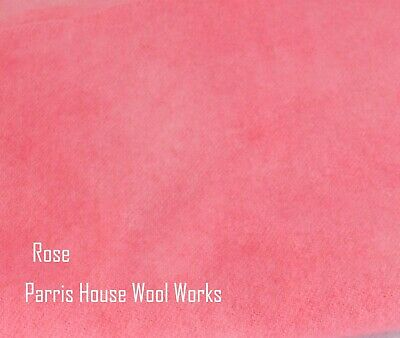 "Wool, Fat Quarter - ""Rose"" - Hand Dyed Wool"
