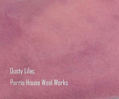 """Wool, Fat Quarter - """"Dusty Lilac"""" - Hand Dyed Wool"""