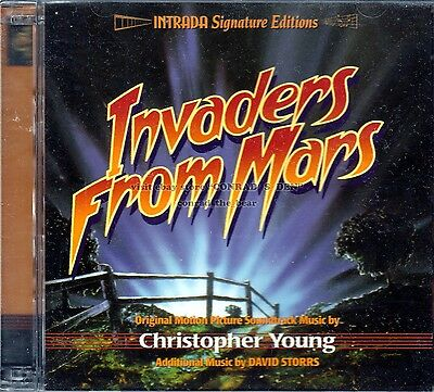 """Christopher Young """"INVADERS FROM MARS"""" Tobe Hooper film score 2CD SEALED soldout"""
