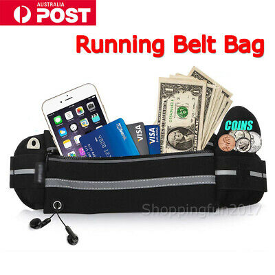 Running Bum Bag Fanny Pack Travel Waists Bags Money Zip Belt Pouch Sports Wallet