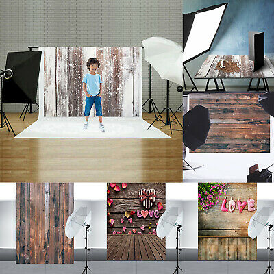 Retro Wood Plank Board Photography Backdrops Cloth Studio Photo Background Props