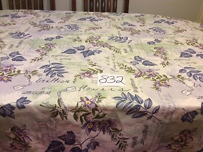 "Spring Time Tablecloth Shades Of Blues Greens & Purples 70"" x 54"" Oblong Fun!!!"