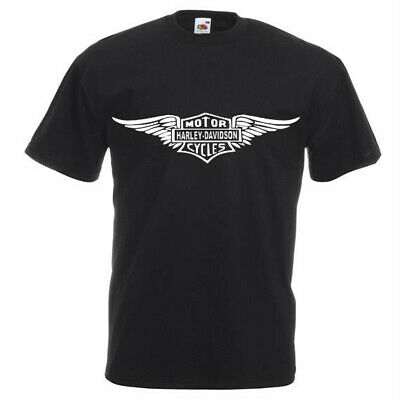 harley davidson wings  tshirt. various colours and sizes. chopper motorbike