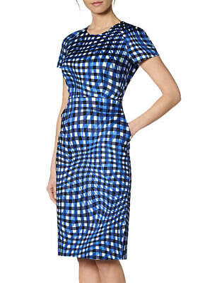 L.K. Bennett Kaleigh Blue Dress.  NWT.  Size 8 Cotton Blend  Perfect for Work
