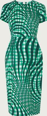L.K. Bennett Kaleigh Green Dress.  NWT.  Size 8 Cotton Blend  Perfect for Work
