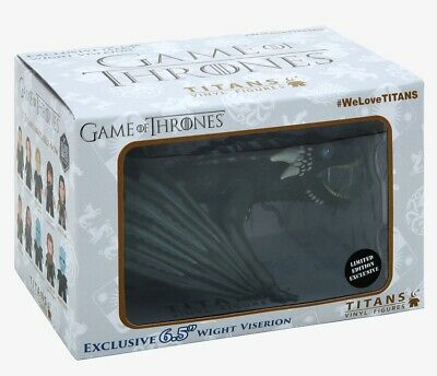 """Game of Thrones Wight Viserion 6.5"""" Titans Vinyl Dragon Figure Hot Topic Excl"""