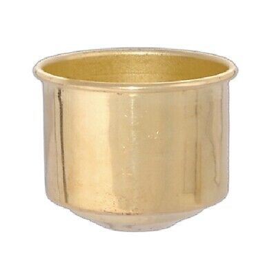 """Solid Brass ~ GLASS Chimney HOLDER CUP ~ For 1 5/8"""" Fitter Glass Shades ~ #GB75"""