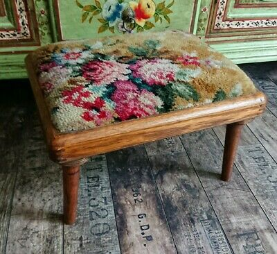 Furniture Nib Vintage Powell Furniture Pink Green Wooden Stool Bench Never Assembled Antiques