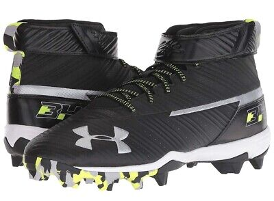 eacfed3183e8 Under Armour Bryce Harper One Mid St Baseball Cleats SZ 11 Black White NEW