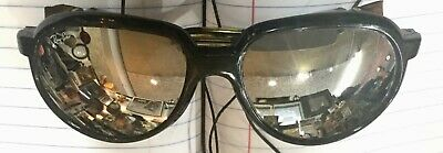 Vtg BAUSCH & LOMB  Ray Ban Glacier Arctic Cats Ski Mirrored Sunglasses  w/ Case