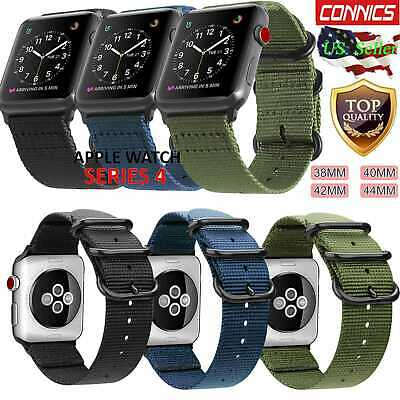 For iWatch Apple Watch 4 3 2 1 42/38/40/44mm Nylon Woven Watch Band Sport Strap