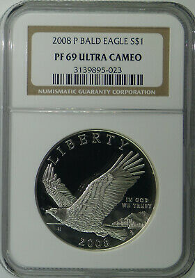 2008-P Bald Eagle Commemorative $1 Dollar Silver Proof Coin - NGC PF69 PF-69