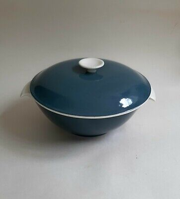 Vintage Poole Pottery Cameo Twintone 'Blue Moon'  Lidded Serving Bowl Tureen.
