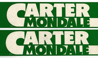 12 Never Used CARTER - MONDALE Bumper Stickers, 1976.