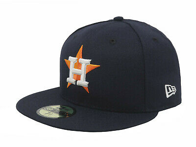 New Era 59Fifty MLB Cap Houston Astros On Field Fitted Navy Blue Home Hat 5950