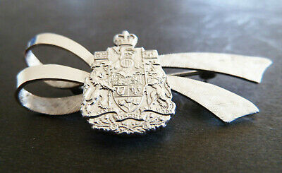 Vintage Sterling Silver Brooch Crest Arms of Canada Royal Canadian Mint RCM Pin