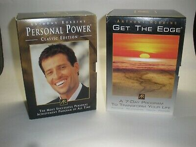 Anthony Robbins, Get The Edge,  7 Day Program,Only 1 Opened/personal power( lot)