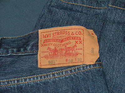 cb3422744d7 Men's Big & Tall Levis 501 Straight Leg Button-Fly Denim Blue Jeans Size 60