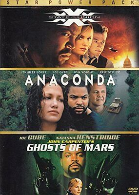 Star Power Pack Xxx State of the Union Anaconda Ghosts of Mars NEW Ice Cube DVDS