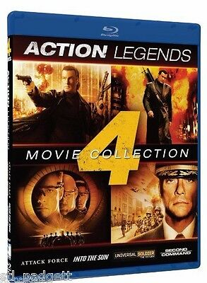 Action Legends 4 Movies: Attack Force Into the Sun Second in Command NEW Blu-ray