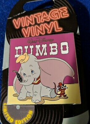 Disney Pin Pin Of The Month Vintage Vinyl Dumbo Record  LE