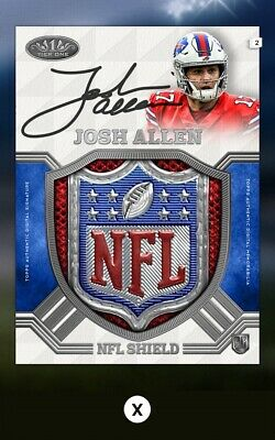 Josh Allen-Nfl Shield Logo Patch Relic Tier One Wave 3-Topps Huddle 19 Digital