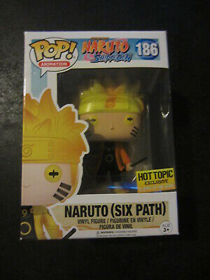 Funko POP #186 Naruto Six Path Shippuden Hot Topic Glow In the Dark Exclusive