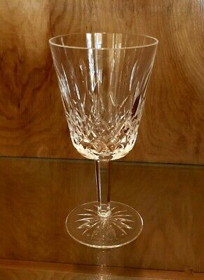 """Signed WATERFORD Crystal LISMORE Pattern 6 7/8"""" WATER GOBLET"""