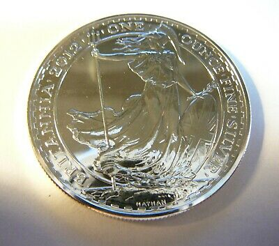 2004 GREAT BRITAIN BRITANNIA 2 POUNDS 1 OZ FINE SILVER COIN MINT UNCIRCULATED