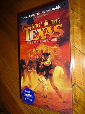 James A Michener's Texas An Epic As Big As The Land That Shaped It 2 Vhs Tapes
