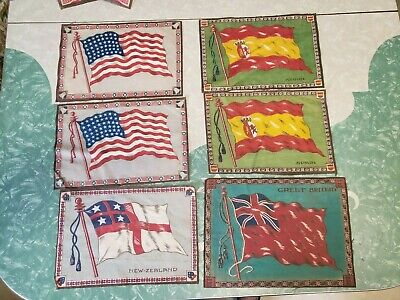 Quilt Tops Rare Vintage Flannel Flag Quilt Topper From Tobacco/cigar Premiums Quilts