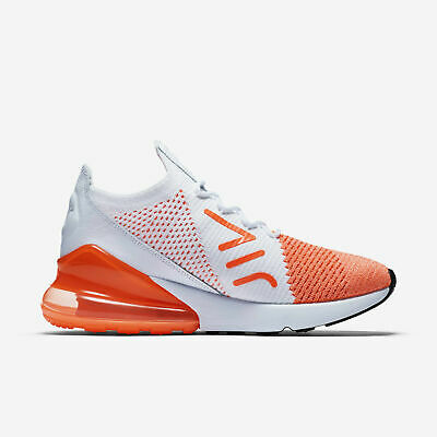 4072feb950 Nike Air Max 270 Flyknit Women's Size 8 Crimson White Running Shoes AH6803 -800