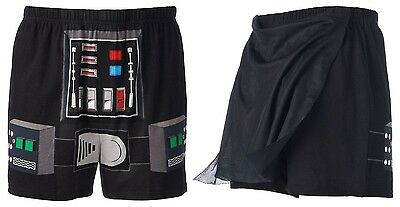 Star Wars Darth Vader Boxer Shorts PJs w/ Butt Cape - Men's S or L - New w/Tags!